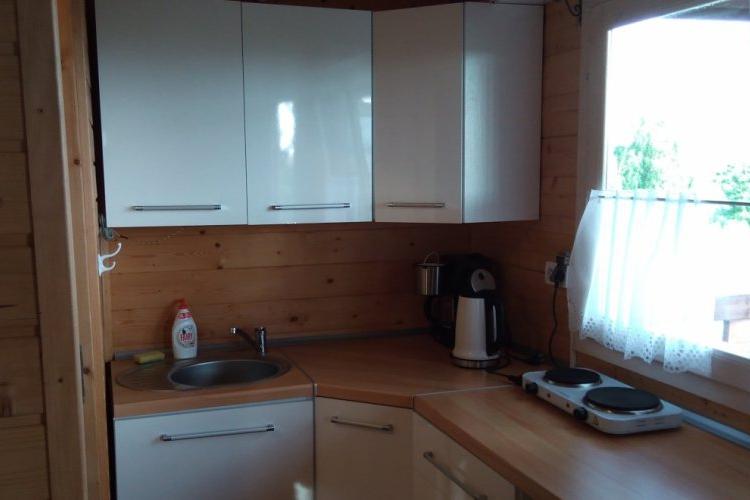Domek Piaskowy--salon z aneksem kuchennym